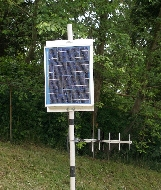 Solar module is a BP 20 watt charging a 7 Ah gell battery.