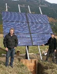 We built this 1050 watt solar array to power an organic farm