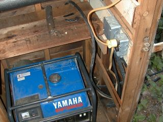The now unused gas generator and the plug in point.