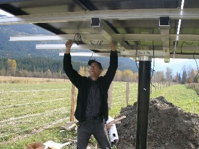 Thats me wiring the array into individual safety breakers.