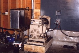 A small diesel genset was the only power source before we installed the hydro system.