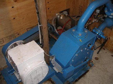 The generator is coupled with a belt.